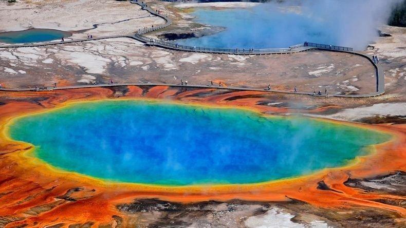 10 Прекрасных горячих источников Йеллоустонского Национального ...
