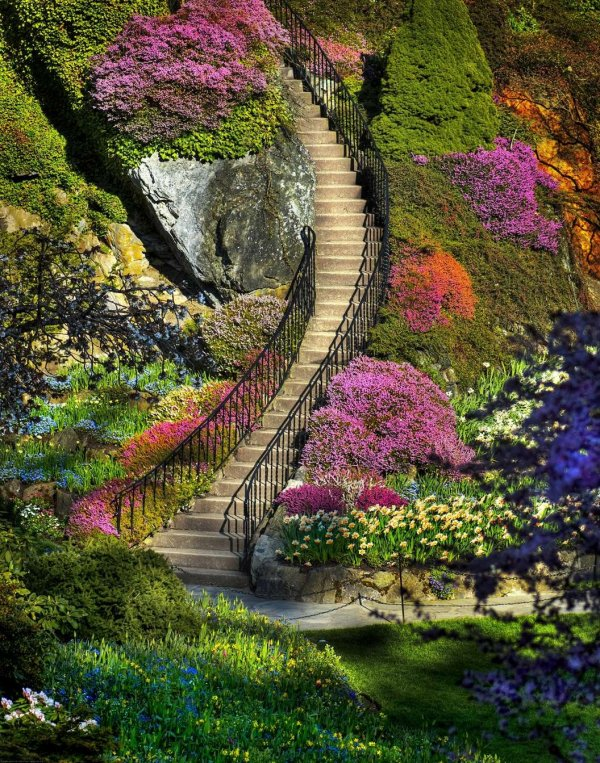 Park Butchart Gardens, Kolumbia Brytyjska, Kanada