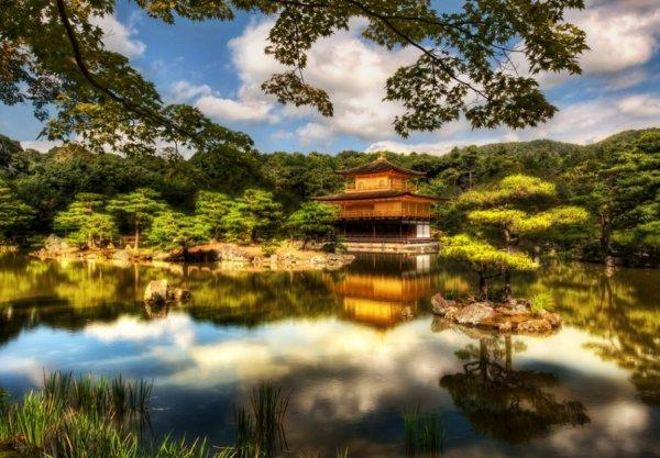 Ogród Ryoan-ji Zen Garden, Kiota, Japonia