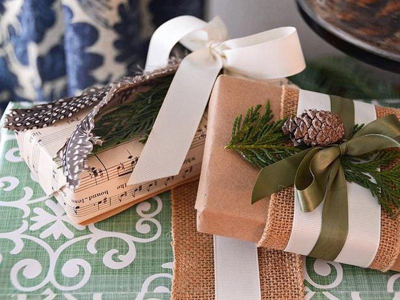 Оформление подарка к новому году своими руками
