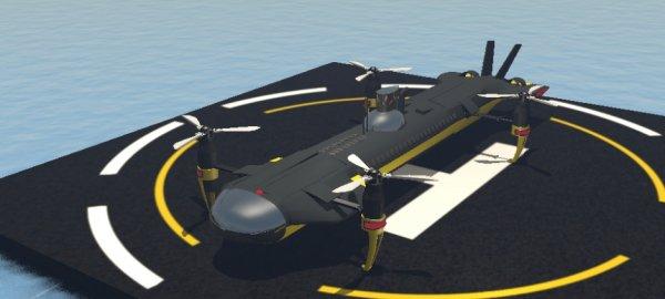 Инженеры создали беспилотник, способный не только летать, но также плавать